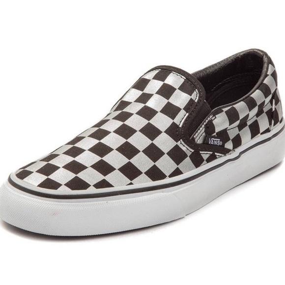 Vans Shoes | Vans Metallic Silver And